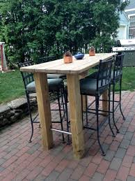 Refinish Iron Patio Furniture by We Wanted A Bar Height Table So Found An Old Picnic Table