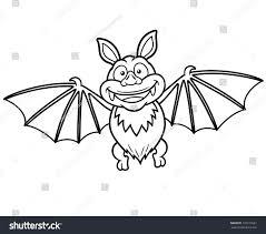 vector illustration cartoon bat coloring book stock vector