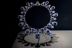 diamond sapphire necklace images Hall sapphire and diamond necklace photograph by leeann jpg