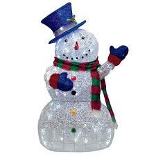 48 led lighted sugar thread snowman lights outdoor yard