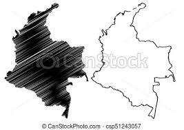 colombia map vector colombia map vector illustration scribble sketch colombia clipart