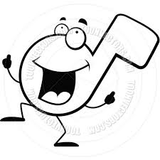 musical note dancing black clipart panda free clipart images