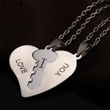 silver heart necklace wholesale images Wholesale sweet lovers love of stainless steel love heart jpg