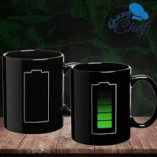 amazon com magic coffee heat sensitive mug battery charging