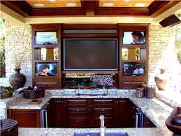 Outdoor Entertainment Center - many of today u0027s backyard entertainment areas feature built in