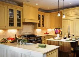 Photos Of Painted Kitchen Cabinets Lift The Mood With Yellow Kitchen Cabinets My Home Design Journey