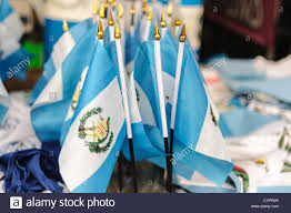 Flag Of Antigua A Cluster Of Small Guatemalan Blue And White National Flags For