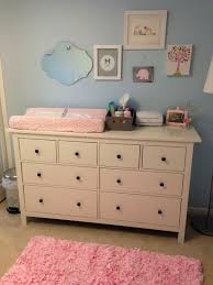 Blue Changing Table Nursery Dressers 1 Light Blue Pink Nursery With Ikea Dresser