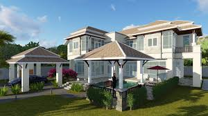 villa design 4 bedroom house size 15 7x16 2m sketchup lumion