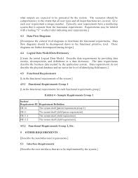 report requirements template functional specifications templates report functional