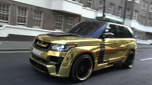 white and gold range rover pimped hamann range rover in london youtube