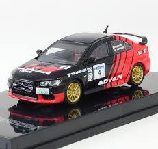 mitsubishi rally car tarmac works 1 64 mitsubishi evo x rally advan livery u2013 initialp