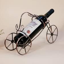 1pc newest metal craft ornaments creative iron wine rack european