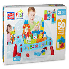 mega bloks first builders table your little one can learn to build big building or little racetracks