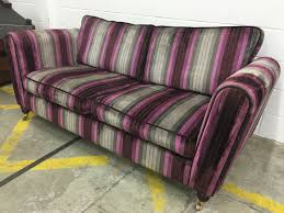 beautiful purple stripe dfs sofa aherns furniture