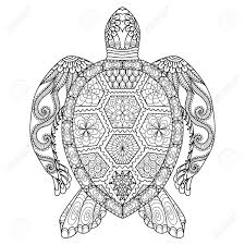 coloring page turtle drawing zentangle turtle for coloring page shirt design effect