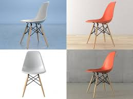 3d eames plastic chair dsw cgtrader