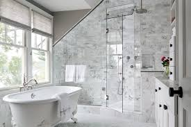 Glass Shower Door Options Shower Door Options Bathroom Transitional With Sloped Ceiling