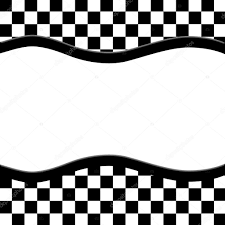 checkered ribbon black and white checkered frame with wave ribbon background
