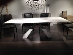 rectangle contemporary marble dining table and leather