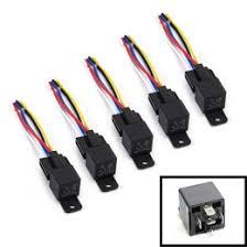 pin 12v 40a spdt relay socket wire car fog light drl lamps