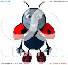 clipart 3d ladybug facing front royalty free cgi illustration by