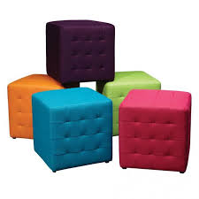 fabric storage cube ottoman kids reception chairs