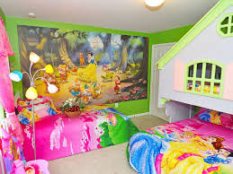 bedroom beautiful disney princess themed kids room with round