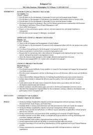 clinical manager resume clinical project manager resume sles velvet