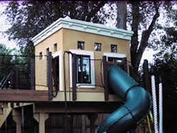 backyard tree house designs tree fort ladder gate roof finale