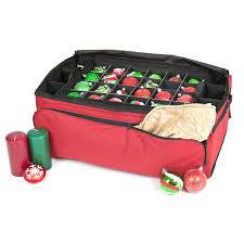 santa s bags 3 tray ornament keeper with pockets sb 10152 rs