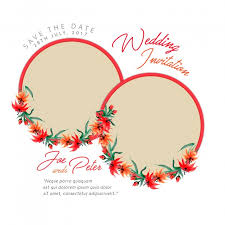 watercolor floral wedding invitation card vector free download