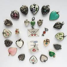 vintage heart bracelet images 262 best antique vintage puffy heart charms images jpg