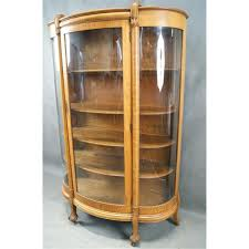 curved glass china cabinet american oak curved glass china cabinet
