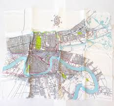 Map New Orleans by New Orleans Map Silk Scarf Ellen Macomber