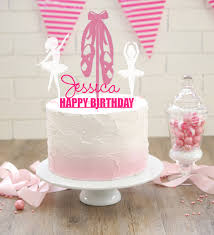 ballerina cake topper personalised kids acrylic birthday cake toppers spatz mini peeps