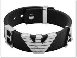 leather armani bracelet images Emporio armani leather cuff bracelet thegloss jpg