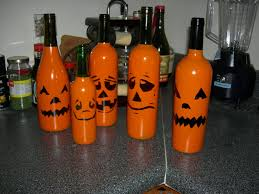 wine bottle jack o lanterns 8 steps with pictures