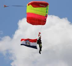 Misouri Flag Southeast Missouri Skydiving Skydive Missouri Illinois