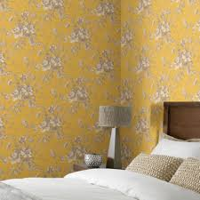 arthouse vintage fleurette gold effect floral wallpaper home