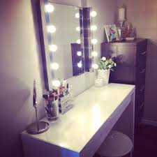 Tabletop Vanity Mirrors With Lights Table Winning Ikea Malm Vanity Mirror Lights And Stool Also From