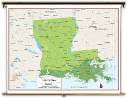 Map Of Louisiana by Louisiana State Physical Classroom Map From Academia Maps
