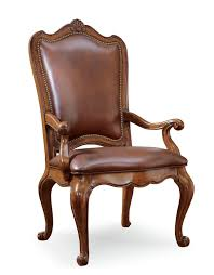 dining arm chairs upholstered universal furniture villa cortina upholstered leather back arm