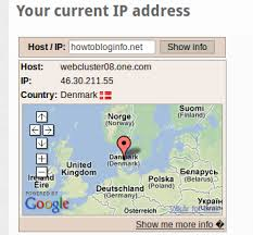 what is my up how to find the ip address and server location my blog siggiblog com