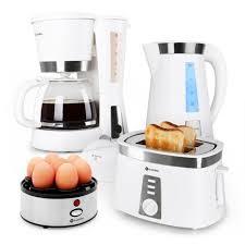 Kettle Toaster Kitchen Breakfast White Set By Klarstein Kettle Toaster Coffee