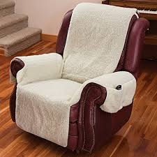 amazon com recliner chair cover one piece w armrests and pockets