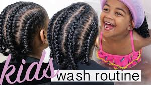 kids wash day protective style start to finish kids natural