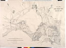 sketch map of port phillip bay and western port