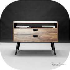 bedroom furniture sets touch nightstand lamps walnut bedside