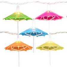 Tiki Solar Lights by Mini Umbrella Party String Lights 10 Lights